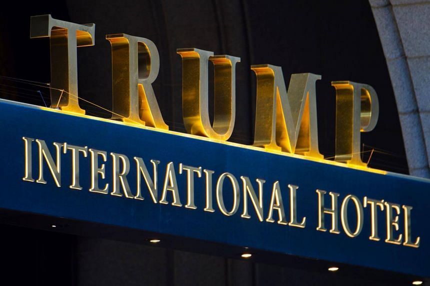 The sign on the Trump International Hotel in Washington, DC.