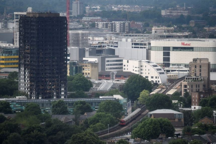 The burnt out remains of the Grenfell apartment tower are seen in North Kensington, London, Britain on June 29, 2017.