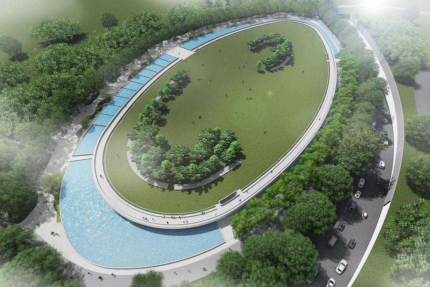 An artist's impression of the new Keppel Marina East Desalination Plant.
