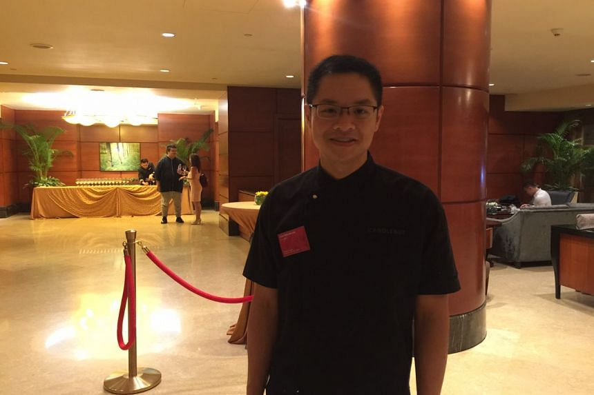 Chef Malcolm Lee, the owner of Candlenut, at the Fullerton Hotel for the Michelin Guide ceremony, on June 29, 2017.