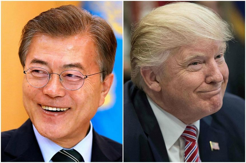 Presidents Donald Trump and Moon Jae in should tackle contentious issues in their first summit meeting on June 29, 2017.