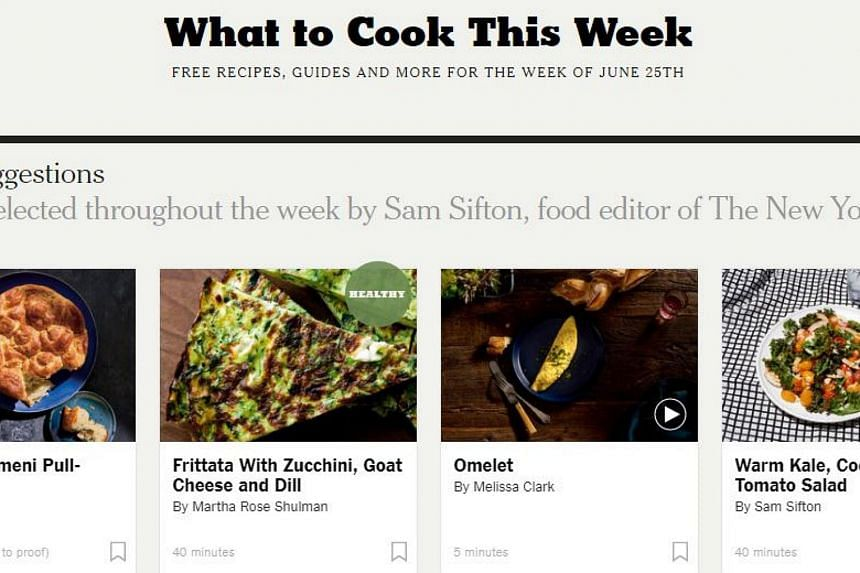 NYT Cooking will start charging a subscription fee from Wednesday.