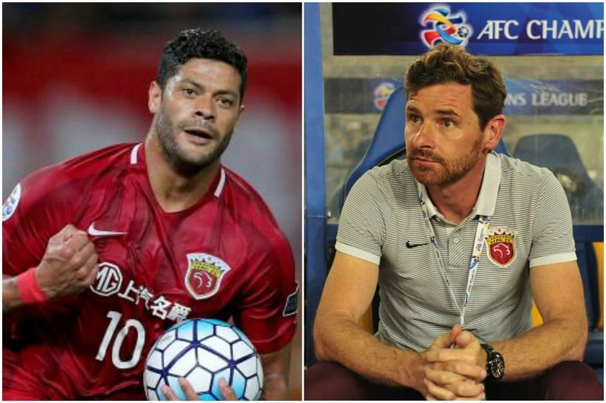 Both Brazilian striker Hulk (left) and Shanghai SIPG coach Andre Villas-Boas were suspended for two Chinese Super League games on June 30.