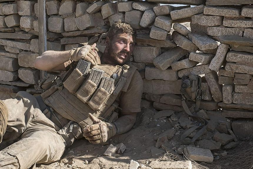 Aaron Taylor-Johnson in The Wall.