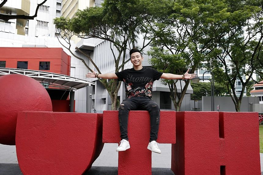 Aspiring rapper Axel Brizzy will be performing three original songs at Ion Orchard tomorrow.