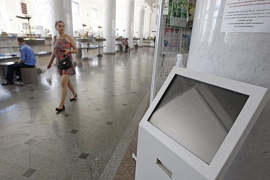 This terminal at the main post office of Ukrainian postal service Ukrposhta was one of the casualties of the NotPetya ransomware attack that affected many institutions in the country on Tuesday. Such incidents highlight the vital need for companies t