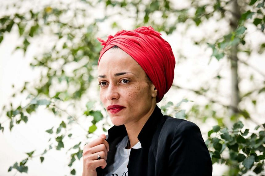 Author Zadie Smith is seldom photographed without her headwrap. PHOTO: NYTIMES
