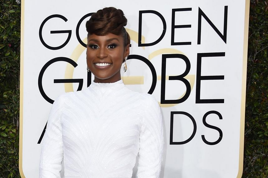 Issa Rae arriving for the 74th annual Golden Globe Awards at the Beverly Hilton Hotel in Beverly Hills, California on Jan 8, 2017.