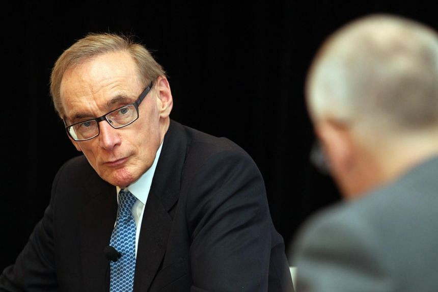 Former Australian Foreign Minister Bob Carr delivering his lecture on South-east Asia: At the Crossroads of the Asian Century at the Fullerton Lecture on 9 July 2013.
