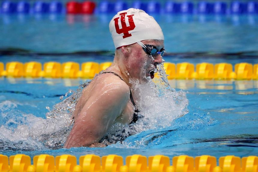Lilly King competes in a Women's 200 LC Meter Breaststroke Final during the 2017 Phillips 66 National Championships & World Championship Trials at Indiana University Natatorium.