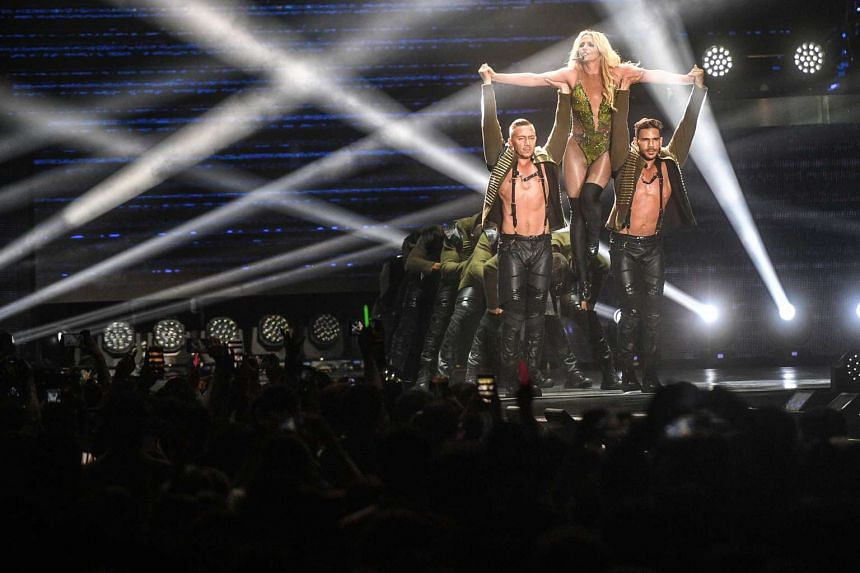 American singer Britney Spears performs her first full-length concert in Singapore at the Indoor Stadium on June 30, 2017. ST PHOTO: MARK CHEONG
