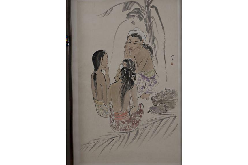 Artist Cheong Soo Pieng's  work, Untitled (3 Women).