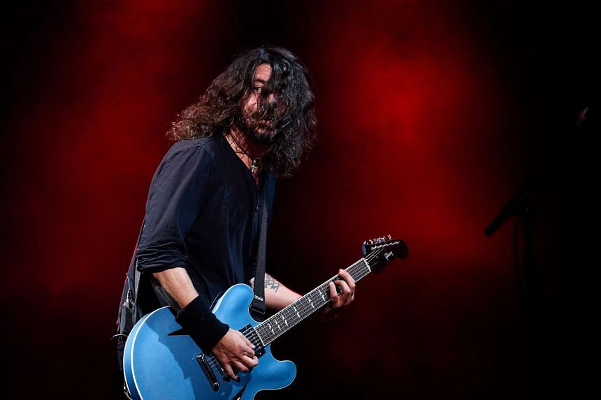 The Foo Fighters perform at the Glastonbury Festival in Britain, June 24, 2017.