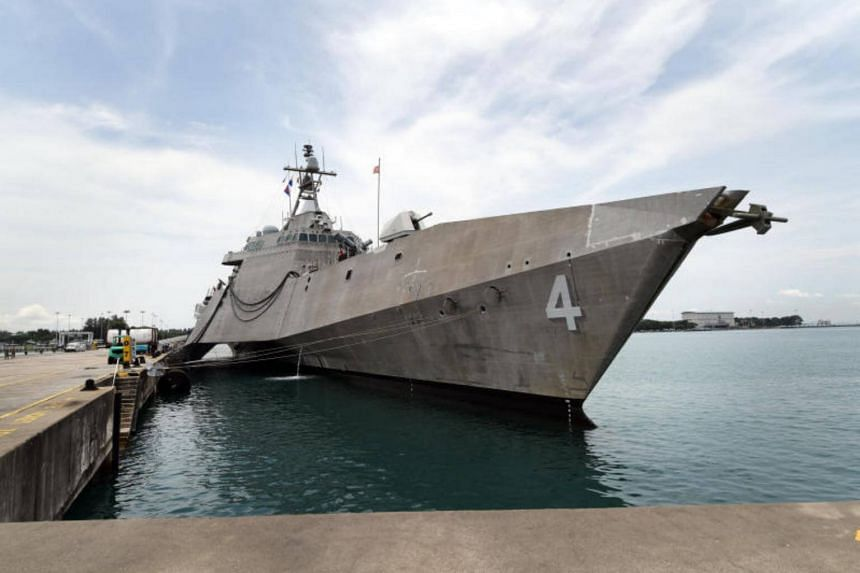US Navy littoral combat ship USS Coronado joined a Philippine Navy frigate, BRP Alcaraz, in patrolling the Sulu Sea where numerous pirate attacks on commercial shipping have been made since 2015.
