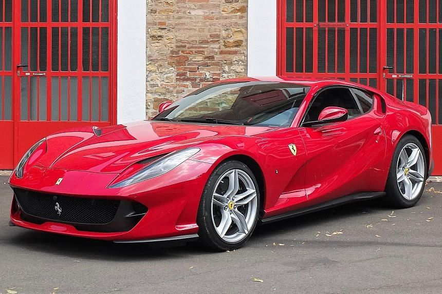The Ferrari 812 Superfast is a tad larger than its predecessor, the F12berlinetta, but manages to retain the same dry weight of 1,525kg.
