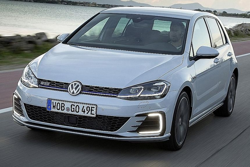 The Volkswagen Golf GTE's powertrain comprises a petrol turbo engine and an electric motor, and has a maximum system output of 204bhp.
