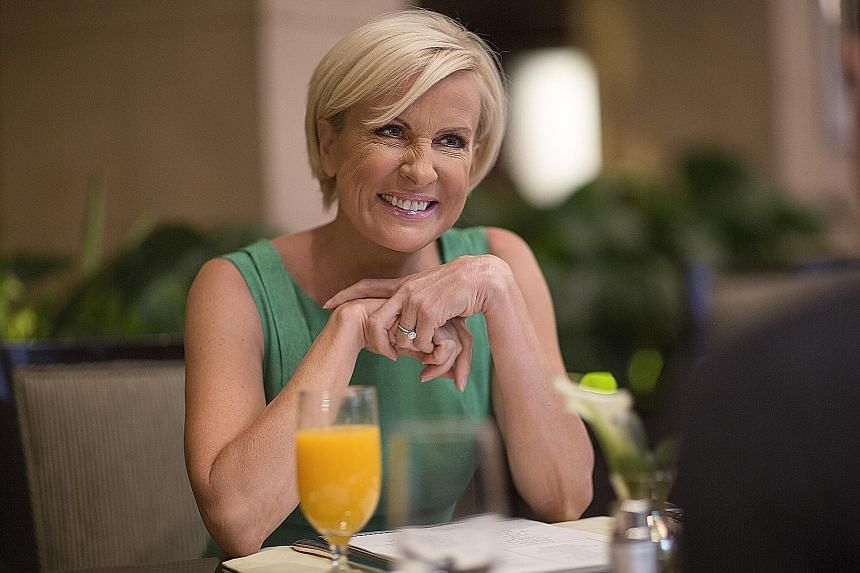 """US President Donald Trump made jibes about Ms Mika Brzezinski's looks and called her """"low I.Q. Crazy Mika""""."""