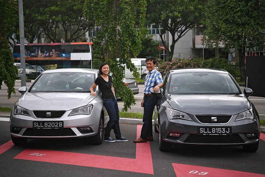 Ms Pauline Koh and her father, Thomas, each bought a Seat Ibiza supermini on the same day.