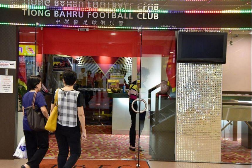 Patrons going in Tiong Bahru FC at People's Park Centre, on June 14, 2017.