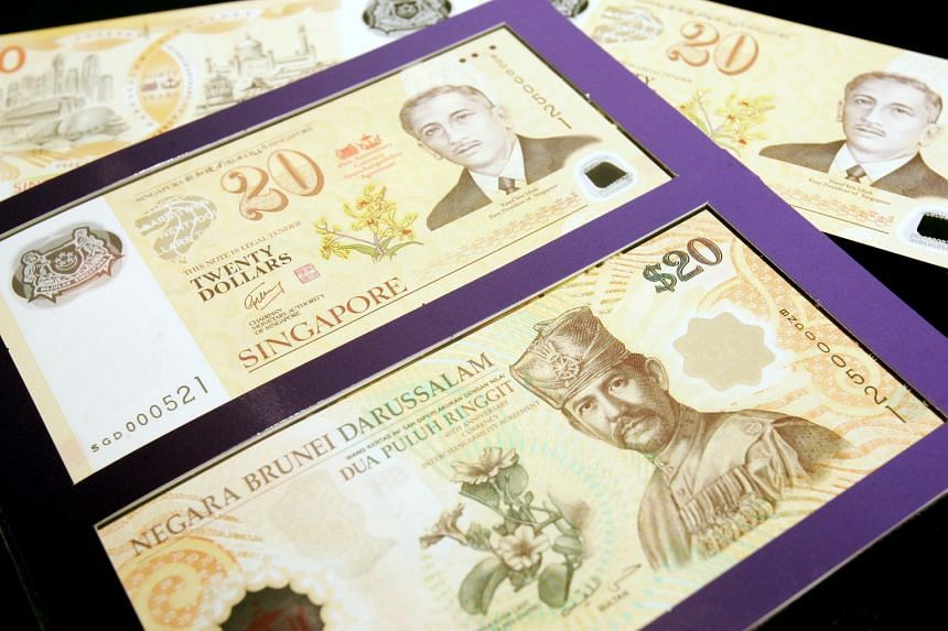 The Brunei dollar has had a strong presence in Singapore, going by the value of Brunei notes and coins deposited by banks with the MAS.