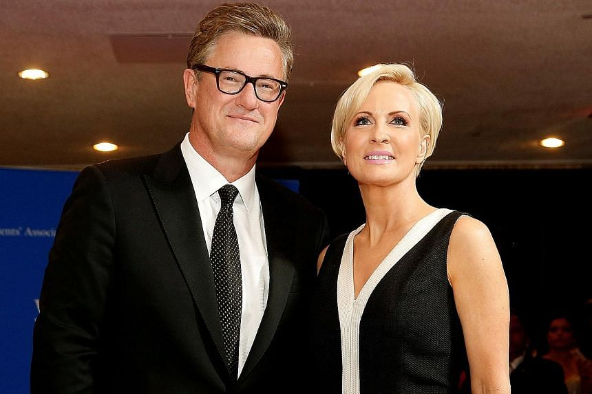 Mr Joe Scarborough and Ms Mika Brzezinski of MSNBC's Morning Joe programme have been critical of US President Donald Trump since he took office in January. They claimed top White House staff members warned that the National Enquirer was planning to p