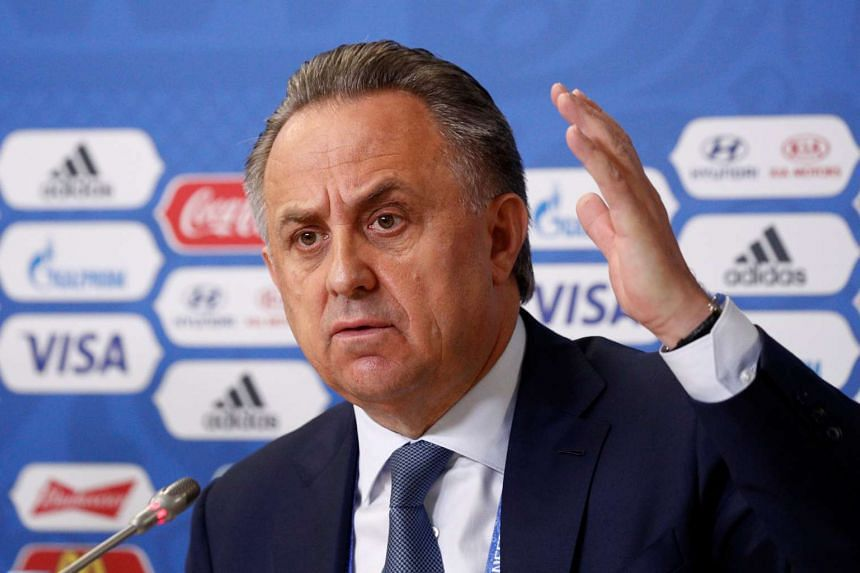 Russian Deputy Prime Minister Vitaly Mutko speaking during a press conference in St Petersburg on July 1, 2017.
