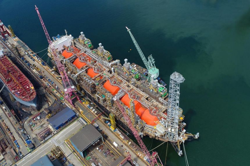 The world's first converted floating liquefaction vessel, the Hilli Episeyo, was named in a ceremony in Keppel Shipyard on July 2, 2017.