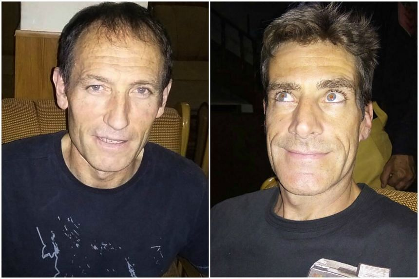 Mountaineers Alberto Zerain Berasategi (left) and Mariano Galvan are believed to have been killed in an avalanche at Nanga Parbat, in the Pakistani Himalayas.