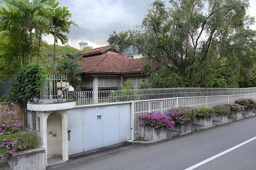 The house of former prime minister Lee Kuan Yew at 38, Oxley Road.