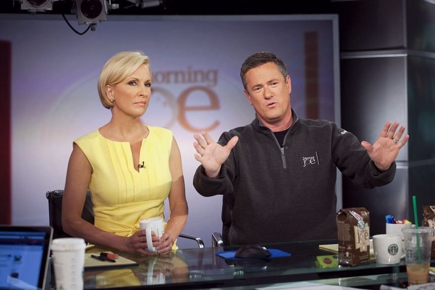 Joe Scarborough (right) and Mika Brzezinski host MSNBC's Morning Joe in a file photo.