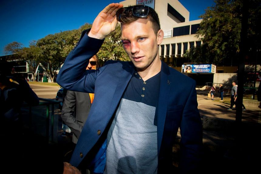 Boxer Jeff Horn arriving for a press conference in Brisbane on July 3, 2017.