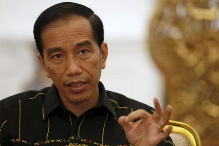 Indonesian President Joko Widodo gesturing during an interview with Reuters at the presidential palace in Jakarta, Indonesia on Feb 10, 2016.