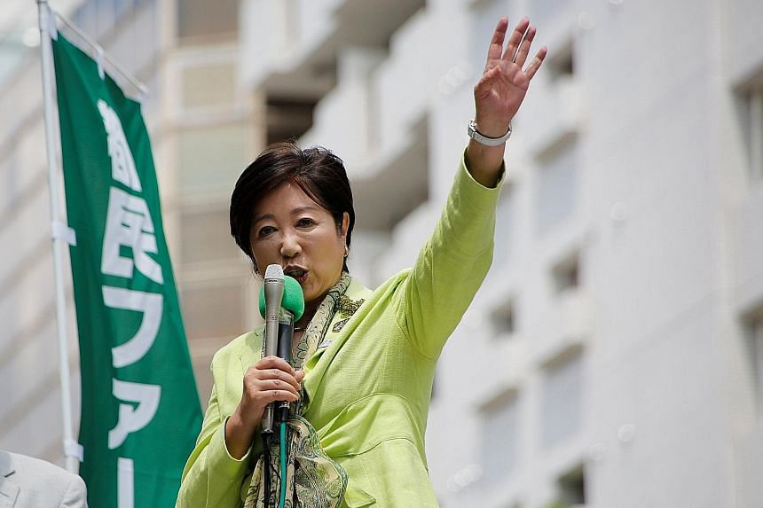 Tokyo Governor Yuriko Koike's party and its allies won.