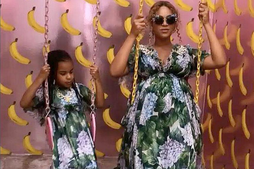 In 4:44, Jay-Z explores aspects of his personal life which includes references to wife Beyonce and elder daughter Blue Ivy (both above).