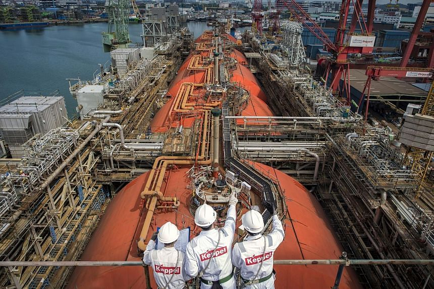 Keppel Offshore and Marine is undertaking the world's first floating liquefaction vessel conversion, which is on track for completion next month.