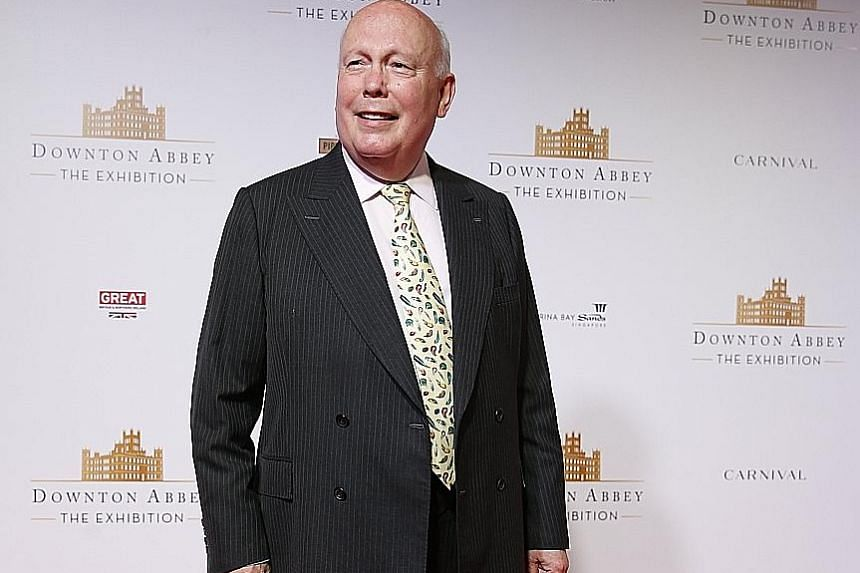 Julian Fellowes (above) wrote the six seasons of Downton Abbey, starring Laura Carmichael, Elizabeth McGovern and Michelle Dockery, and says he rarely took suggestions from the cast or fans.