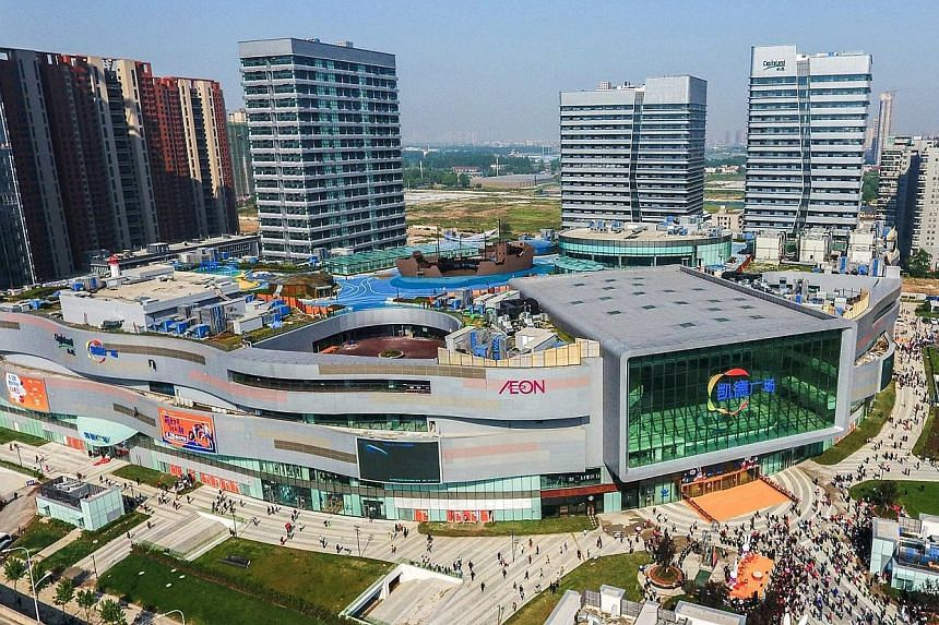 CapitaMall Westgate in Wuhan, China. The complex is one of four integrated developments opened in April by CapitaLand. The property developer has the largest portfolio of integrated developments of any foreign developer in China, it said in a Singapo