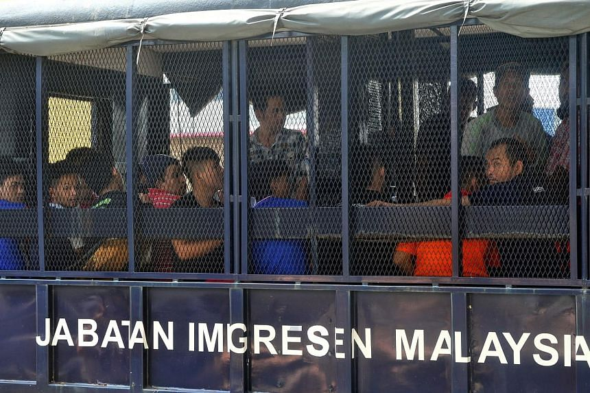 Some 40 foreign workers and their employer were arrested last Saturday in a raid by the Malaysian Immigration Department in Ipoh, Perak, for not having E-cards, which function as temporary confirmation of employment for illegal foreign workers.