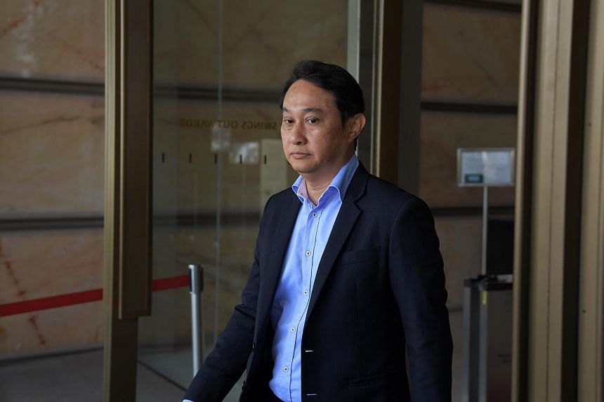 Former City Harvest Church fund manager Chew Eng Han leaving the Supreme Court on April 7, 2017.