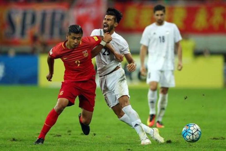 Chinese international striker Zhang Yuning (No. 9) will be sent out on loan for two seasons to Bundesliga side Werder Bremen by parent English Premier League club West Brom.