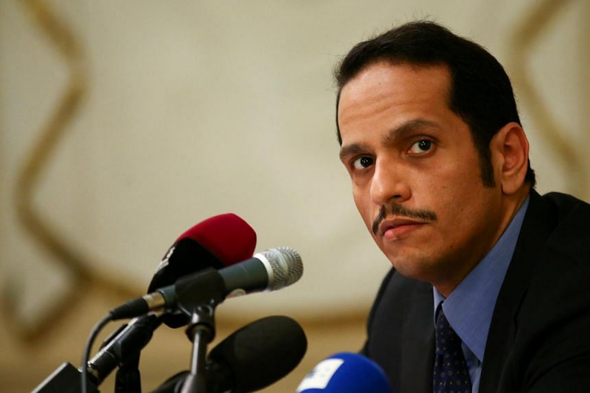Qatari Foreign Minister Sheikh Mohammed bin Abdulrahman al-Thani attends a news conference in Rome on July 1, 2017.