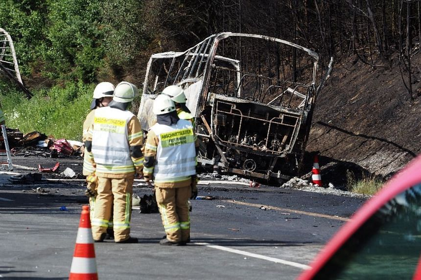 Up to 18 are feared dead and some 30 injured in a bus crash in Germany.