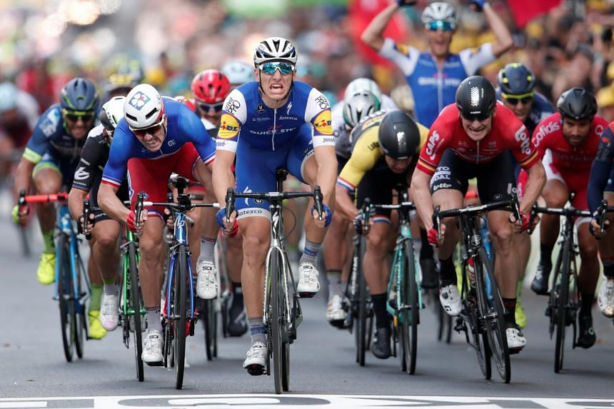 The 203.5km Stage 2 of the 104th Tour de France cycling race from Duesseldorf, Germany to Liege, Belgium, on July 2, 2017.