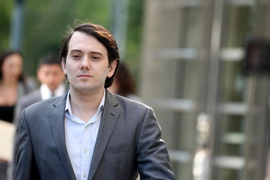 Martin Shkreli, former chief executive of Turing Pharmaceuticals, leaves the United States Federal courthouse in Brooklyn, New York.