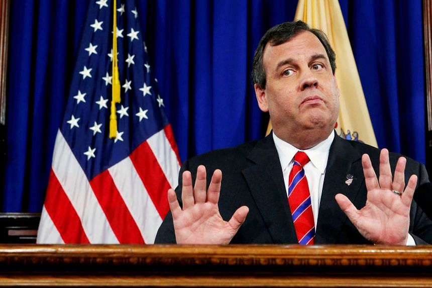 Christie (above, in a file photo) was pictured on a beach that was closed to the public due to a government shutdown.