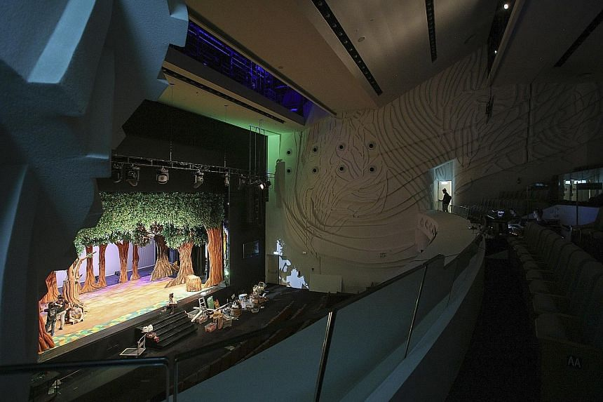 Players Theatre will put on children's production Hansel And Gretel at the 930-seat main Theatre (above) on Saturday and Sunday afternoon.