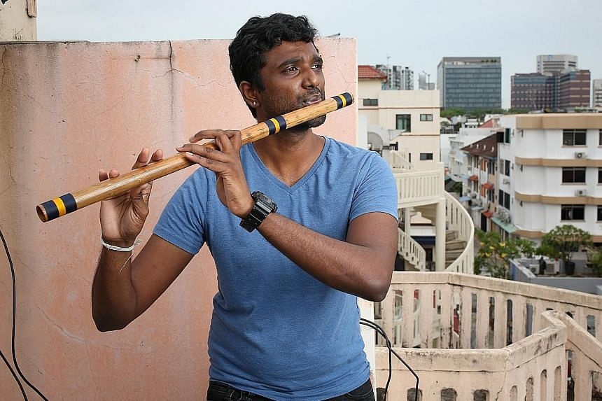 Flute player Raghavendran Rajasekaran and four of his musician friends form Raghajazz, which plays original songs that fit the arrangement and harmonies of jazz, but topped off with Indian classical melodies.