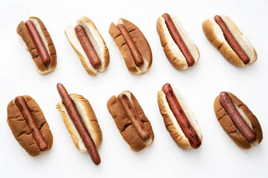 The 10 hot dogs that were part of the taste test (clockwise from top left): Applegate, Nathan's, Oscar Mayer, Wellshire Farms, Boar's Head, Trader Joe's, Niman Ranch, Ball Park, Brooklyn Hot Dog Company and Hebrew National.