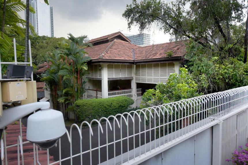 The home of the late Mr Lee Kuan Yew at 38, Oxley Road.