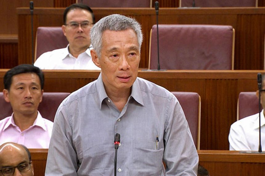 Prime Minister Lee Hsien Loong speaks in Parliament House on July 4, 2017.